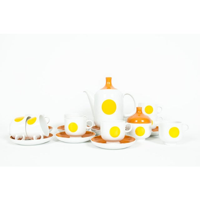 Mid-Century Modern German Tea / Coffee Service - 18 Pc. Set For Sale In New York - Image 6 of 10