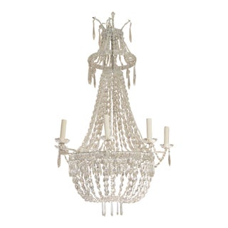 Empire Style Crystal Chandelier For Sale