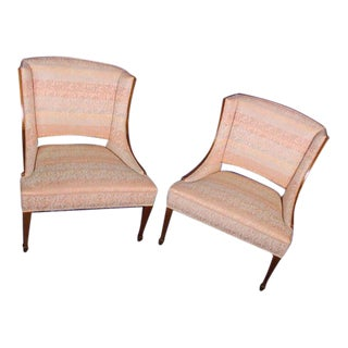 Modern Fruitwood Side Chairs - A Pair For Sale