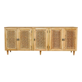 Grand Mehrangarh Geometric Jali Sideboard For Sale