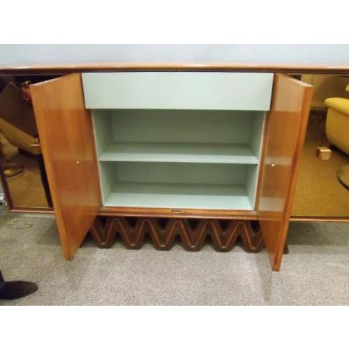 1930s Osvaldo Borsani Rare Sideboard in Mirror and Cherrywood and Oak For Sale - Image 5 of 8