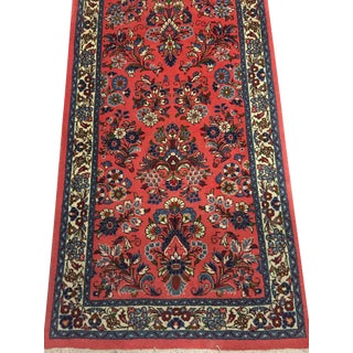 Vintage Persian Qom Hand Woven Runner 2'6 X 10'7 For Sale