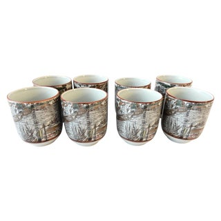 Asian Tea Cups - Set of 8 For Sale