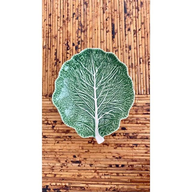 Vintage Green Bordallo Pinheiro Cabbage Leaf Bowl For Sale - Image 9 of 10