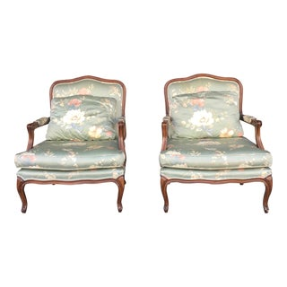 1970s Vintage French Lounge Chairs- A Pair For Sale