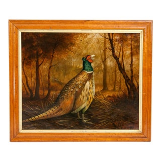 Late 19th Century Wood Frame Oil / Canvas Painting For Sale