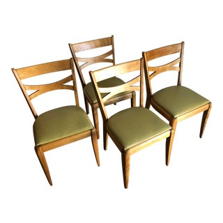 Vintage Mid Century Modern Heywood Wakefield Dining Chairs - Set of 4 For Sale