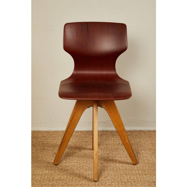 Wood Mid-Century German School Chairs - Set of 6 For Sale - Image 7 of 13