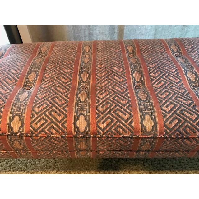 Vintage Chrome Upholstered Bench - Image 8 of 9