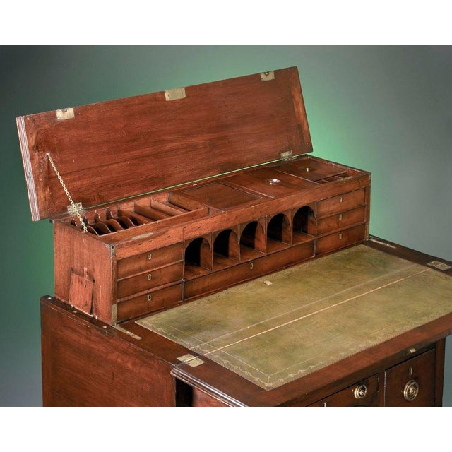 George III Mahogany Campaign Desk For Sale - Image 4 of 5