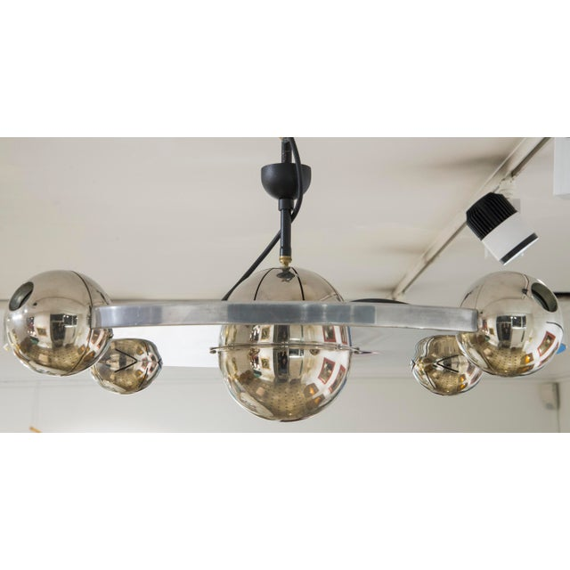 "Mid-Century Modern Yonel Lebovici - Ceiling Light Model ""Soucoupe"", Steel, Circa 1969 For Sale - Image 3 of 7"