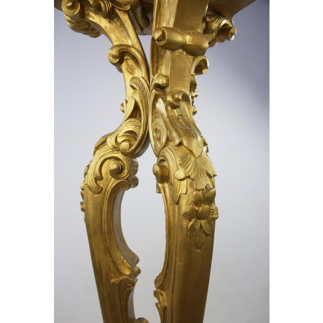 Rococo Style Gold Pedestal Stands - Pair - Image 5 of 8