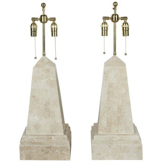 Pair of Obelisk Lamps by Maitland-Smith For Sale