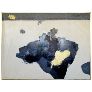 Mid-Century Modern X Large Framed Abstract Acrylic Painting by Y. Ohashi, 1955