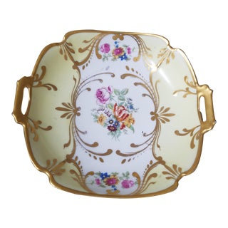Hand Painted Antique Limoges Candy Dish For Sale
