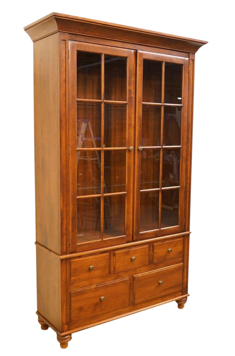 Nichols U0026 Stone Amherst Collection Solid Cherry Country French Curio  Display Cabinet
