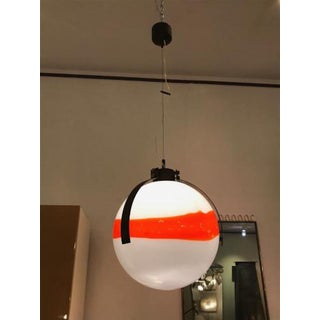 Mid Century Modernist Mazzega Murano Glass Ball Shaped Chandelier Preview