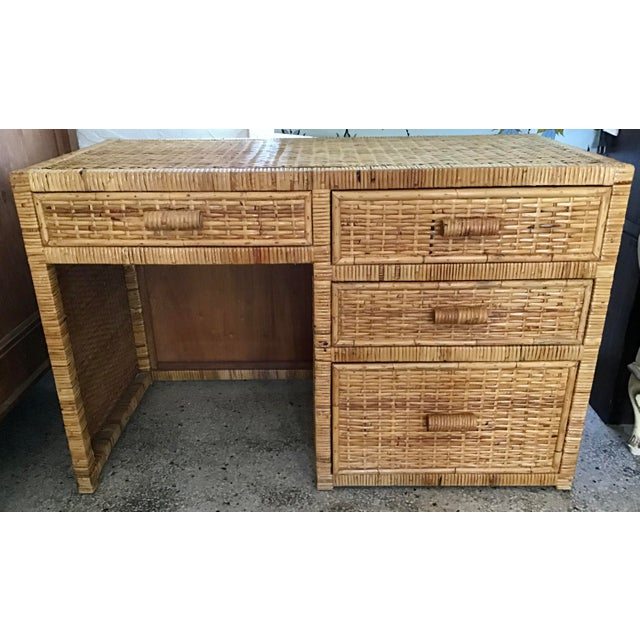 Boho Chic 1960s Boho Chic Bielecky Brothers Writing Desk For Sale - Image 3 of 12