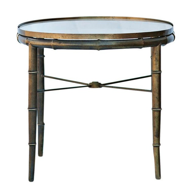 Mastercraft Mastercraft Brass Bamboo Oval Cocktail Table For Sale - Image 4 of 5