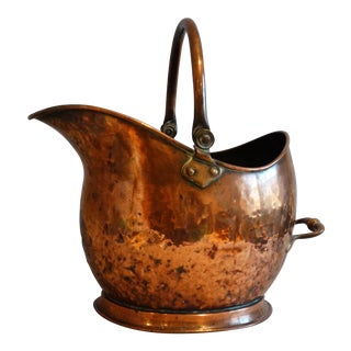 Large Antique English Coal Scuttle For Sale