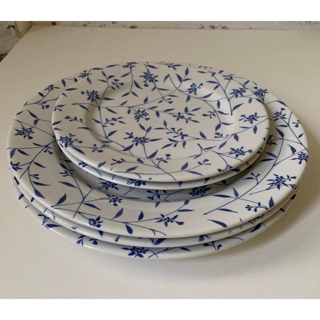 Blue Windsor Browne Furio Blue White Flower Stoneware Dishes - Set of 5 For Sale - Image 8 of 8