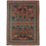 "Image of Vintage Persian Hamadan Rug – Size: 3' 2"" X 4' 3"" For Sale"