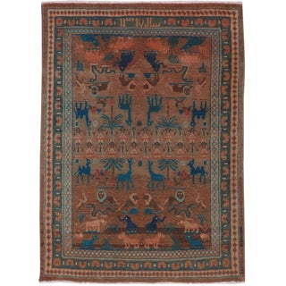 "Vintage Persian Hamadan Rug – Size: 3' 2"" X 4' 3"" For Sale"