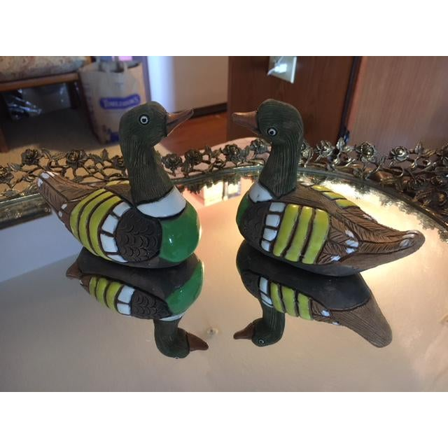 Abstract Vintage Casails Ducks - A Pair For Sale - Image 3 of 10