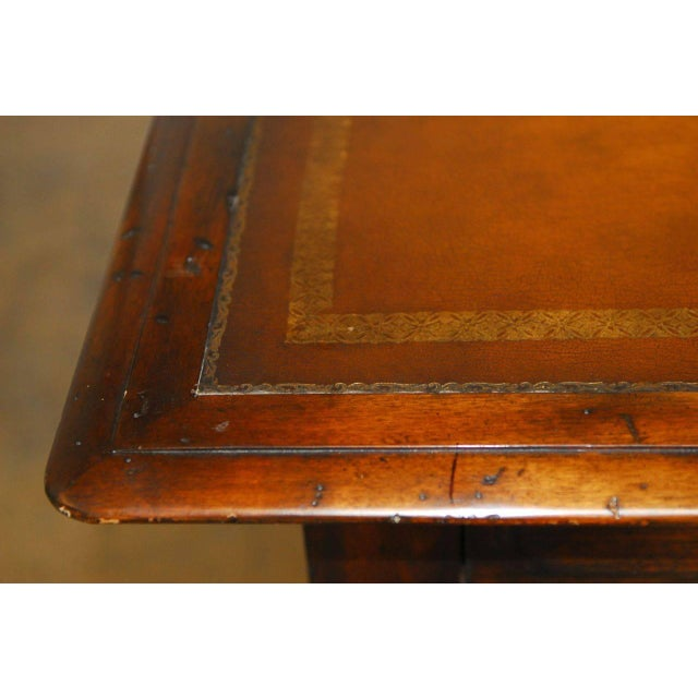 French Louis XIII Leather Top Writing Table - Image 3 of 7
