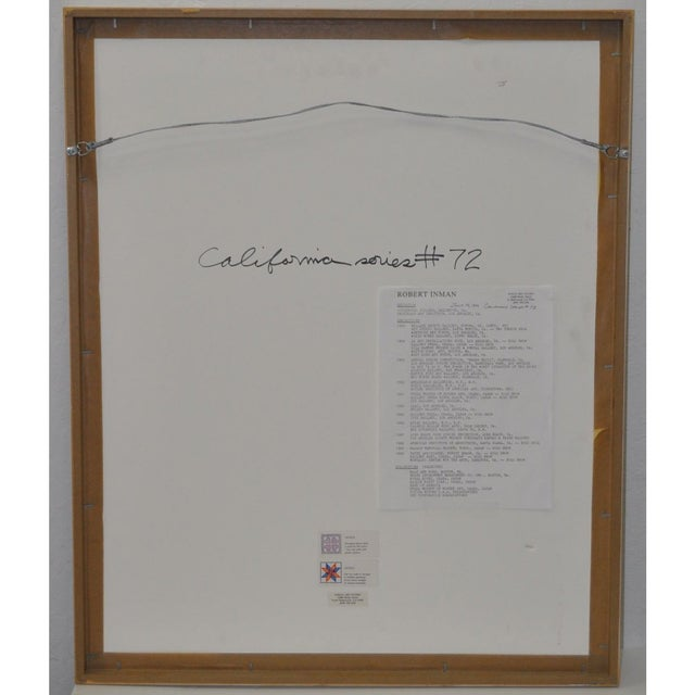 "Robert Inman Pair of ""California & Osaka"" Lithographs C.1990s For Sale In San Francisco - Image 6 of 7"