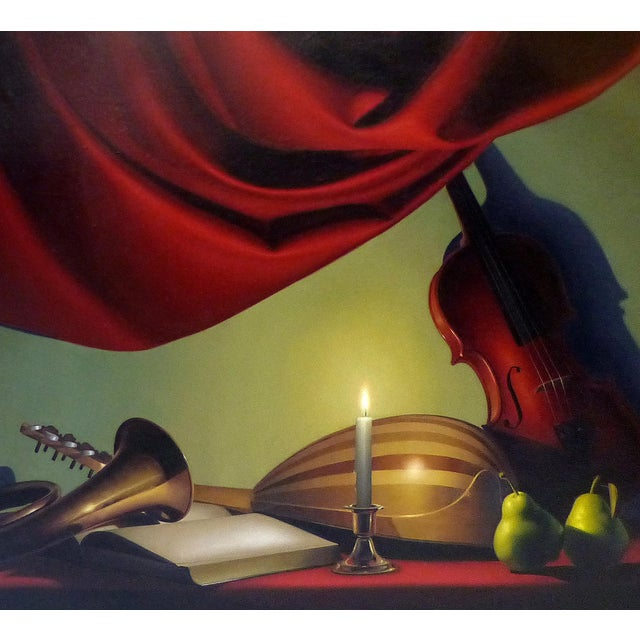 Candle-Lit Still Life Oil Painting by Nicolas Fasolino - Image 3 of 11