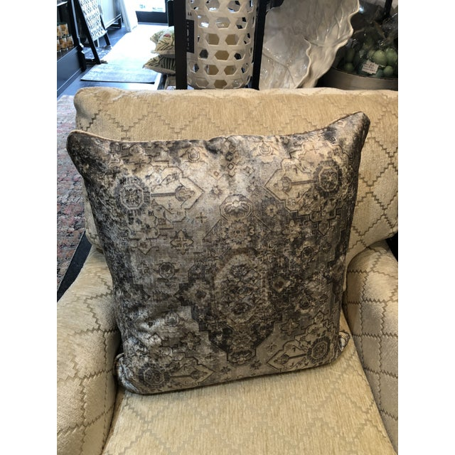 These soft and luxurious polyester & cotton pillows have the appearance of a worn antique rug. Made from an antique rug...