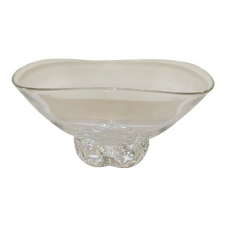 Late 20th Century Crystal Footed Bowl by Stuben For Sale