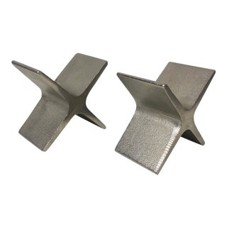 1970s Vintage Carl Aubock X Bookends- A Pair For Sale
