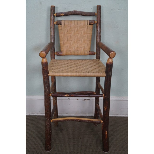 Old Hickory Rustic Barstools - Set of 3 - Image 10 of 10