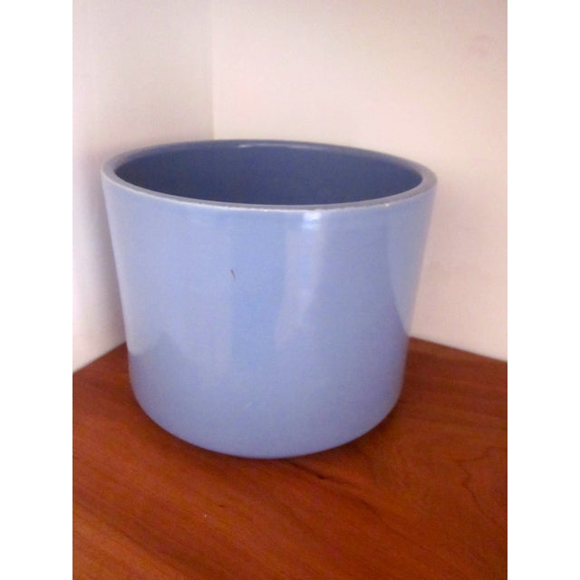 Gainey Ceramics Blue Architectural Pottery Planter For Sale - Image 11 of 11