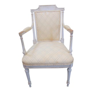 19th C Louis XVI Style Painted Chair For Sale