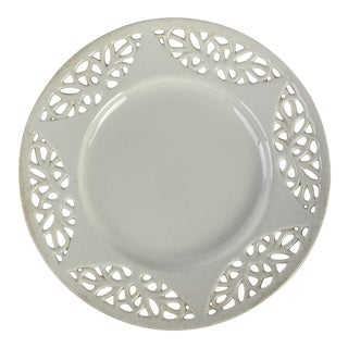 European Reticulated Creamware Plate For Sale