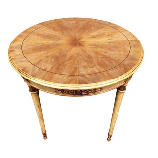 1960s Italian Colombo Mobili Fruitwood Center or Accent Table For Sale