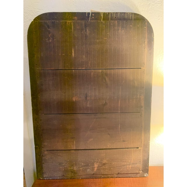 1880 Antique French Charles X Style Green and Gold Painted Wall Mirror For Sale - Image 12 of 12