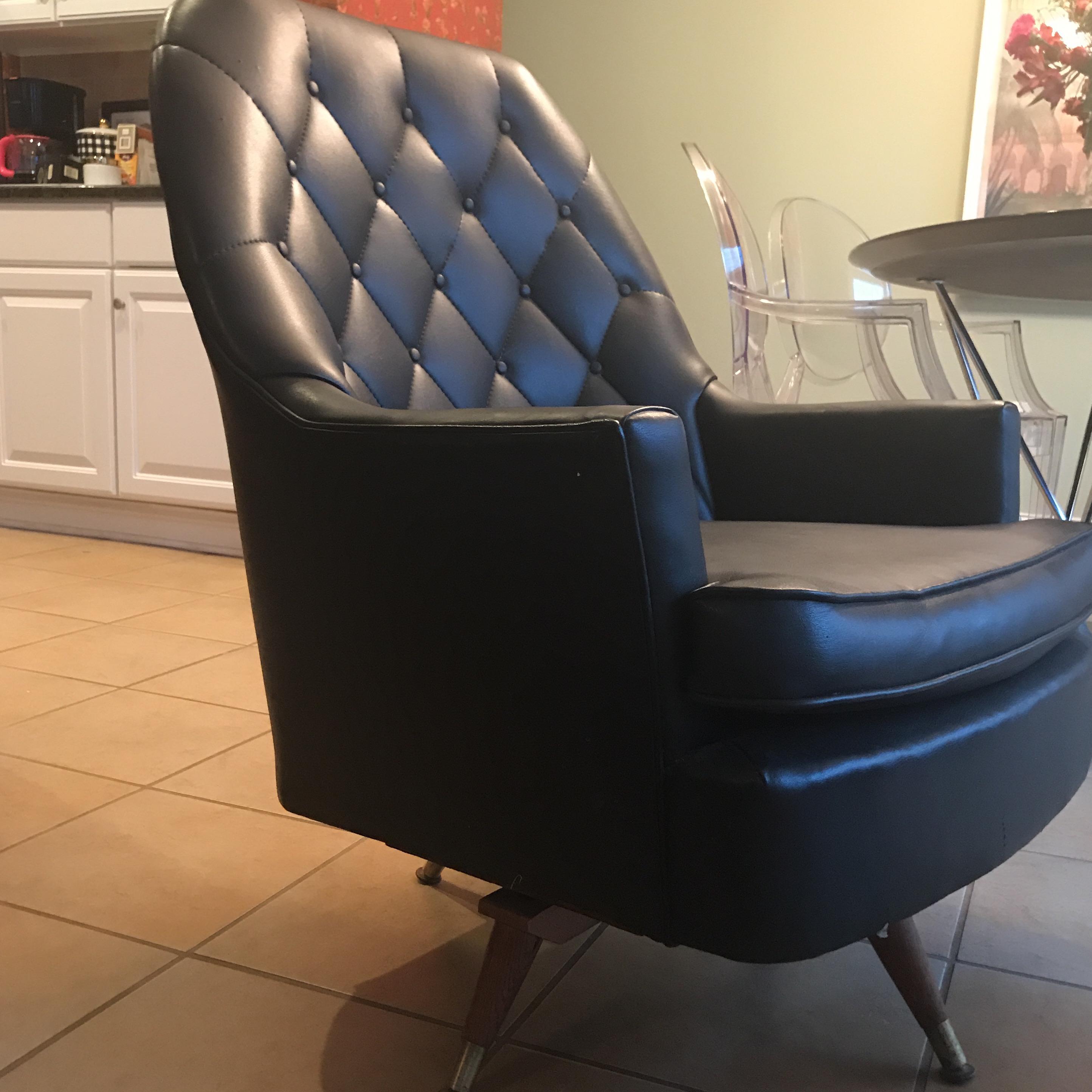 Vintage Berkline Club Chair U0026 Ottoman   A Pair   Image 3 ...