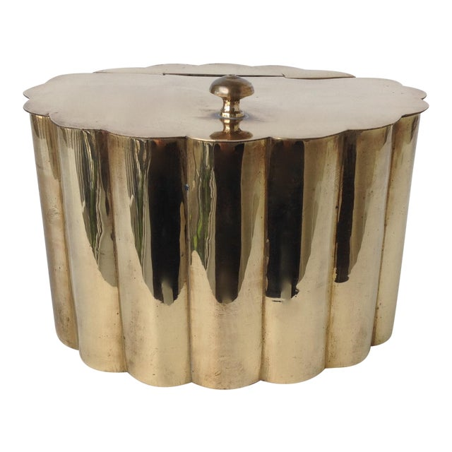 Brass Moorish-Style Tea or Biscuit Container For Sale