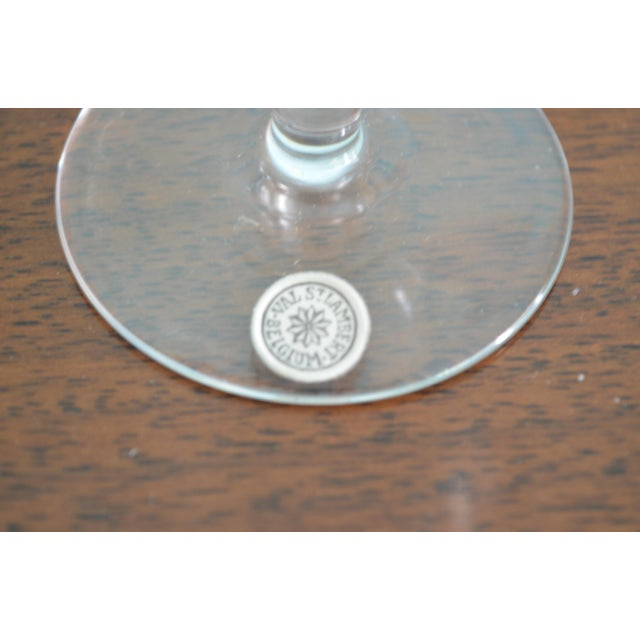 English Vintage Val St-Lambert Cordial Glasses & Drinks Tray, 7 Pieces For Sale - Image 3 of 10