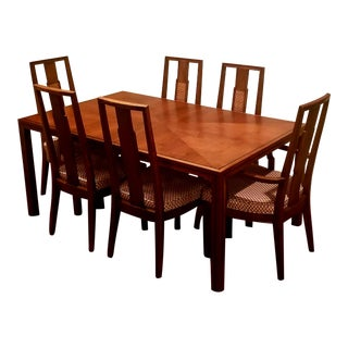James Mont for John Stuart Mid Century Dining Set For Sale