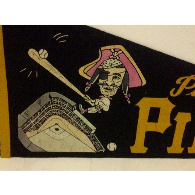 Vintage Baseball Team Pennant - Mlb - Pittsburgh Pirates - Circa 1960 For Sale - Image 4 of 7