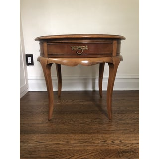 1960s French Country Hekman Round Side Table Preview