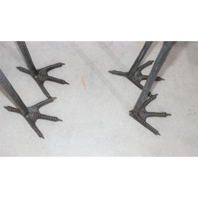 Bronze Crane Sculptures 6 Ft - a Pair For Sale - Image 10 of 13