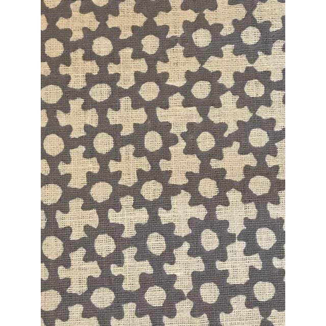 """4 3/8 Yards of Star By Galbraith & Paul Lavender On Logan Natural Linen Small Star Width: 54"""" Repeat: 18""""v x 17 1/2""""h Will..."""