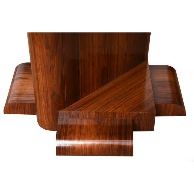 Art Deco Architectural Larry Lazlo/ Bexley Heath for Widdicomb Square Rosewood Center Table For Sale - Image 3 of 10