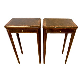 Pair of Art Deco Macassar Wood Side Tables For Sale
